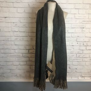 NEW ZARA gray and tan reversible scarf/wrap